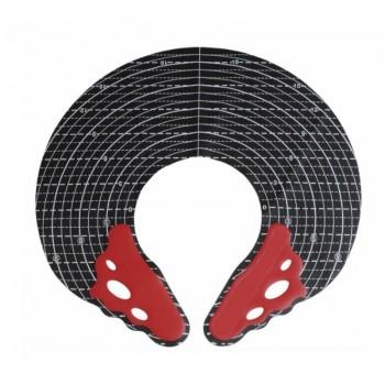 """Парикмахерский воротничок с разметкой """"идеальная стрижка"""" Y.S.Park 1мм черный с красным"""